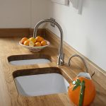 Double-Sink-and-Solid-Wood-Worktop