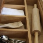 Solid-wook-kitchen-compartmented-drawer